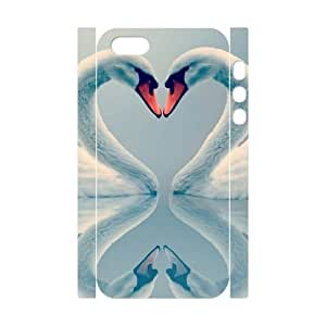 ALICASE Diy Customized Case Swan 3D Case for iPhone 5,5S [Pattern-1]