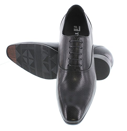 Toto H4021-3 Inches Taller - Height Increasing Elevator Shoes - Zwarte Veterschoenen