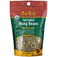 ShaSha Organic Gluten Free Sprouted Mung Beans Bio Buds, 16 Ounce