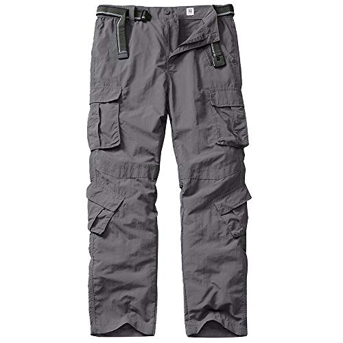 linlon Fulture Direct Men's Outdoor Casual Quick Drying Hiking Cargo Pants with 8 Pockets