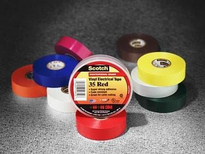 Adhesive Tapes VINYL BROWN 3/4''X66' Pack of 10 (517-35BN)
