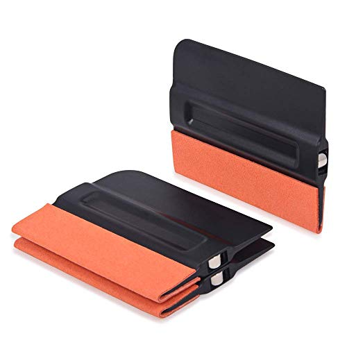 GUGUGI 3 Pack Magnet Felt Squeegee for Vinyl Film Wallpaper Tool Suede Edge Squeegee with Micro-Fiber Felt Edge for Car Vinyl Wrap, Window Tint, Auto Graphic, Wallpaper,Decal, Sticker ()