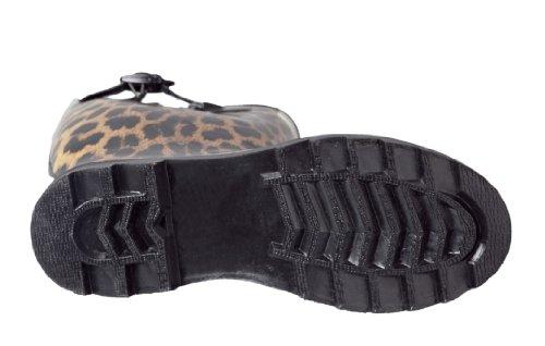 Forever Young - Wellie Regenstiefel für Damen Leopard