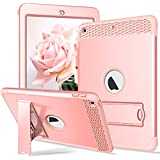 Rantice iPad 6th Generation Cases, iPad 9.7 2018 Case Hybrid Shockproof Rugged Drop Protection Cover Built with Kickstand for New iPad 9.7 inch A1893/A1954/A1822,/A1823 (Rose Gold)