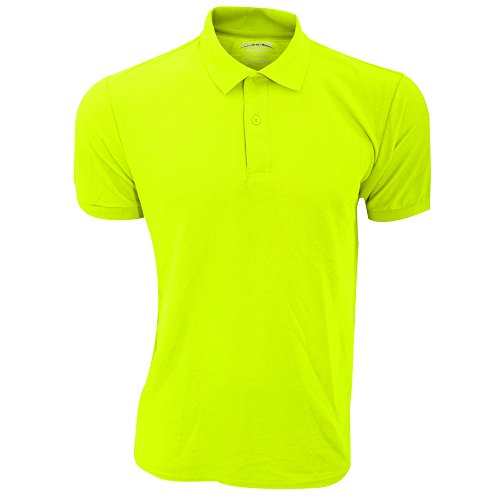 Gildan Mens DryBlend Adult Sport Double Pique Polo Shirt (L) (Safety Green)