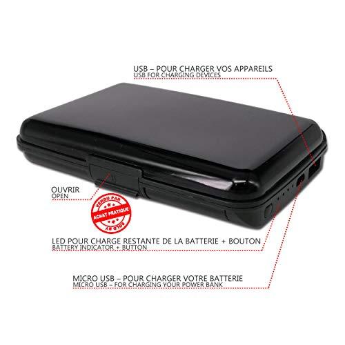 1 2 2000 Téléphone Et Aluminium Organisateur Cartes Bank Portefeuille Power Porte De Mah Carte En Chargeur Noir Avec Rfid Blocage gris OCAxqAzPw