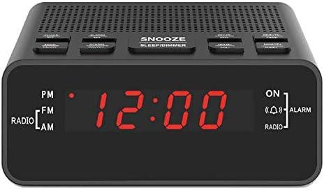 Alarm Clock, Digital Alarm Clock Radio with AM/FM Radio, Sle