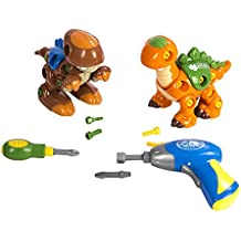 CP Toys Create-A-Dino Building Set with Electronic Drill and Screwdriver