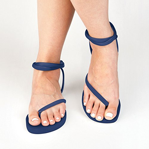 Sandals Handmade Flops Comfortable Navy Sandal Sandals FLEEPS Ankle Women Perfect With or Gladiator s Flip Galaxy Insanely Wedding Rica Flip Sandals Blue Strap Summer In Flops Costa Beach SqE0qz