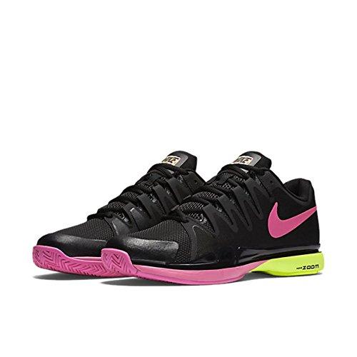 Nike Womens Zoom Vapor 9.5 Tour Tennis Shoes Black/Pink Blast/Volt 631475-067 Size 8 (Nike Zoom Vapor Shoes compare prices)