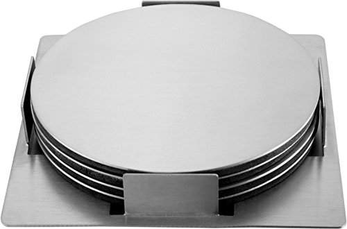 Pro Chef Kitchen Tools : Stainless Steel Coaster Set 4 Round