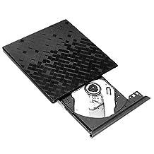 Itian External DVD Drive,USB 3.0 Ultra Slim Touch Control High Speed CD-RW DVD-RW Super Drive Player Writer Burner for Mac / Macbook Pro Air iMac / Laptops / Desktops / Notebooks (Black)