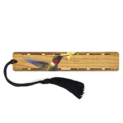 Ruby-Throated Hummingbird - Bird - Wooden Bookmark with - Hummingbird Bookmark
