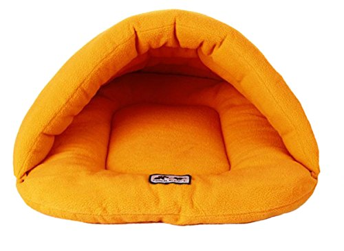 Gullor Winter Warm Comfortable Pet Dog Cat Rabbit Cushion Half Covered Bed Sleeping Bag - Orange - Orange Hut