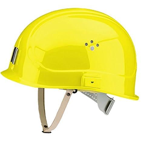 Schwefelgelb VOSS-Helme 12301016 Bauhelm mit kurzem Schirm f/ür Kopfschutz in engen R/äumen 1 St/ück