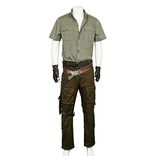 Partyever Spencer Cosplay Costume Set Men's Jungle Uniform Halloween Party Suits Welcome to The Jungle (X-Large) -