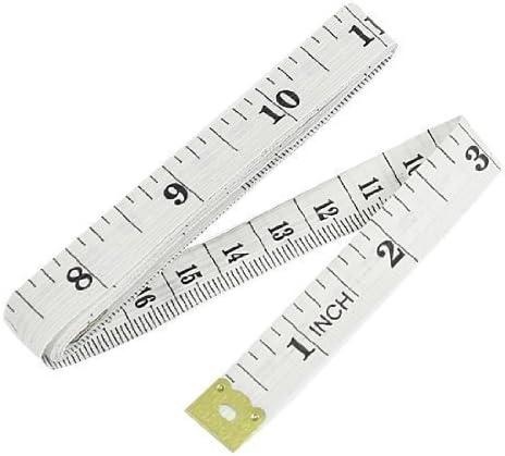 Tailoring Tape Measurement Tools White Plastic Inches Measure Tool Centimeter
