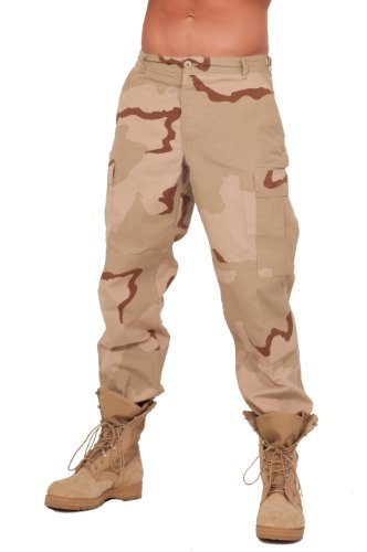 (Rothco Mens BDU 3 Color Desert Pants (Medium))