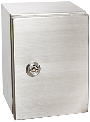 (BUD Industries Series SNB NEMA 4 Stainless Steel Box with Mounting Bracket, 5-29/32