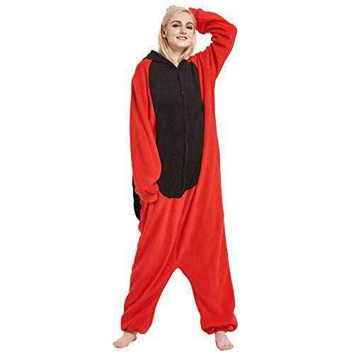 Fleece Onesie Pajamas for Women Adult Cartoon Animal Christm