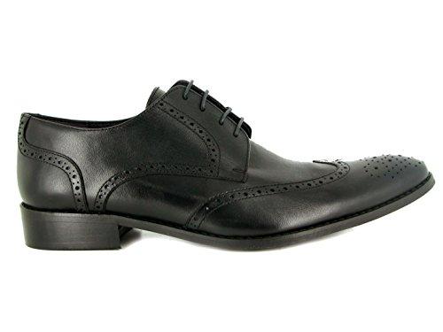 J.Bradford Zapatos Homme Derby De Vestir Cuero Negro Gloc