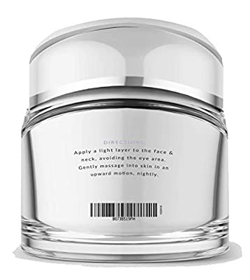 Premium Retinol Night Cream Moisturizer for Face & Neck with Hyaluronic Acid & Breakthrough Anti Aging, Anti Wrinkle Firming Complexes – Collagen Boosting Skin Care for Men & Women