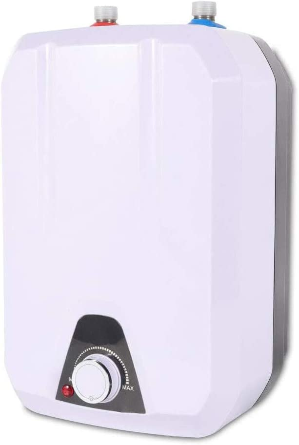 TFCFL Electric Instant Tankless Water Heater, 8L Waterproof Portable Hot Water System 55℃- 70℃ Directly Heating Type for Bathroom Kitchen Hotel 110V 1500W