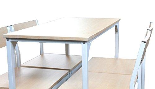 Yelloo mod. jesolo set tavolo bar e 4 sgabelli bianco h.96cm