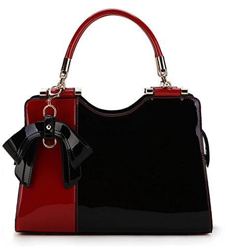Scarleton Elegant Two Tone Satchel H14231001 - Red/Black