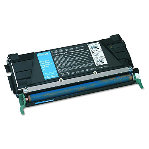 Lexmark C5220CS Return program laser toner for lexmark c522/c524/c530/c532/c534, 3k yld, cyan - Lexmark C5220cs Cyan Toner