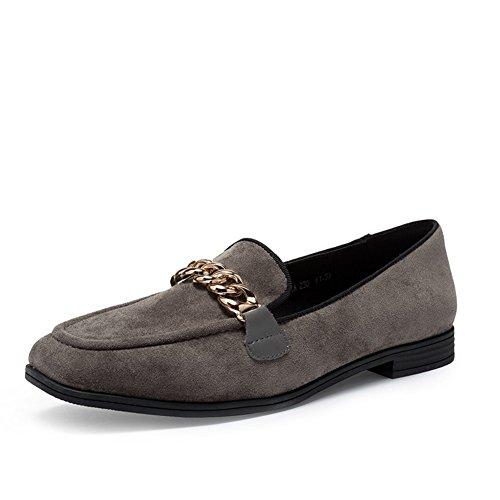 Ladies Autumn Low Heel Schuhe,Square Heel Set Foot Flachen Mund Schuhe B