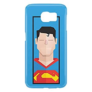 Loud Universe Samsung Galaxy S6 3D Wrap Around Superman Clarke Kant Triangular Print Cover - Blue
