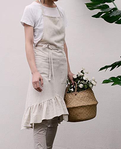 (Jevopan Women Bib Kitchen Apron Lady's Fashion Cooking Baking Kitchen Aprons with Tail of Evening Dress Design (White))