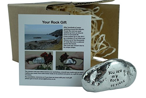 Pirantin 10th Anniversary 100% Tin You are My Rock Gift Idea - Solid Metal Heavy Rock Gift for 10 Year Anniversary -