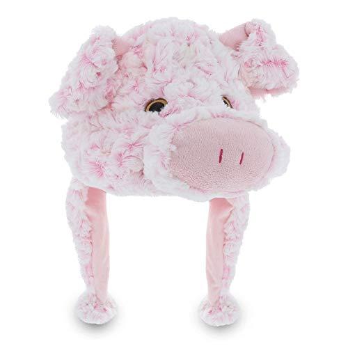 Dollibu Stuffed Animal Plush Soft Warm Fleece One Size Peruvian Hat - Pink Pig]()