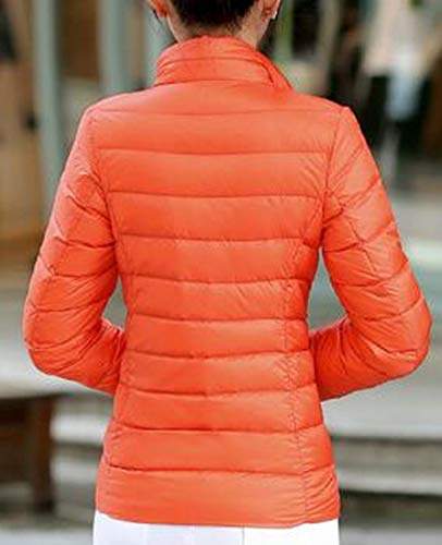 Inverno Puffer Piumino Leggero Coreana Slim Fit Arancione Donne Colletto Packable Mu2m Alla qaFxwZIq