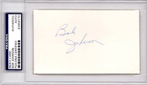 Bob Johnson Autographed Signed Tennessee Volunteers Vols 3x5 inch Index Card - College Hall of Fame - PSA/DNA Authenticity (COA) - PSA Slabbed Holder from Sports Collectibles Online