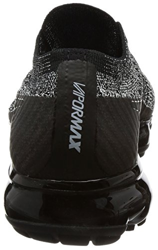Nike Vrouwen Air Vapormax Flyknit Loopschoenen Zwart / Zwart-wit-racer Blauw