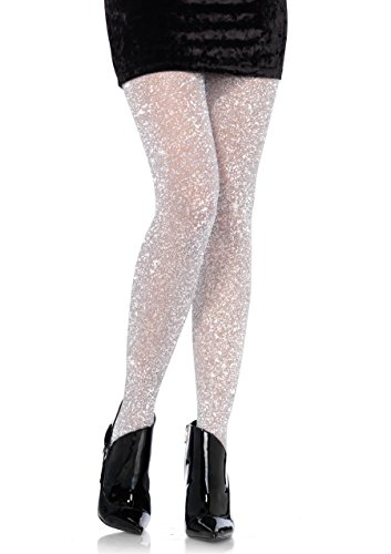 Leg Avenue Women's Lurex Tights, Silver, - For Avenue The Women