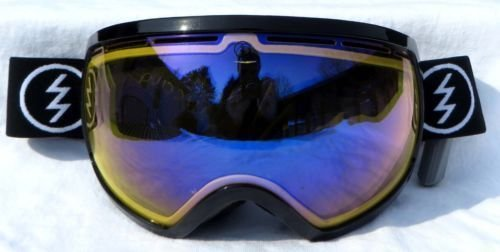 - Gloss Black Electric Eg2 Gloss Black Blue Oversized Ski Snowboard Goggles