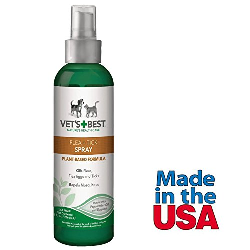 4173jgjenNL - Flea Tick Control Spray for Dogs Vet's Best Made in USA 8 Fl Oz