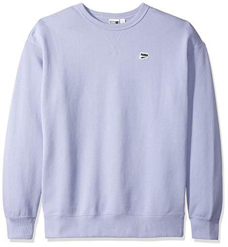 PUMA Men's Downtown Crewneck Sweatshirt, Sweet Lavender, L ()