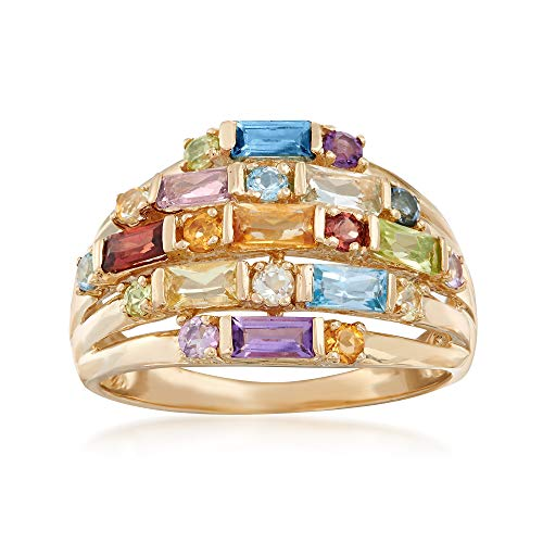 Ross-Simons 1.50 ct. t.w. Multi-Stone Cluster Ring in 14kt Yellow -