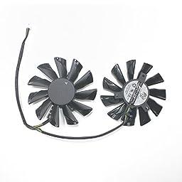TOMUM 2 Pcs/lot PLD09210S12HH DC Graphicss Card Fan 86mm 40x40x40mm For XFX R9-270X R9-280X R9-290X Brushless Cooling Fan Cooler