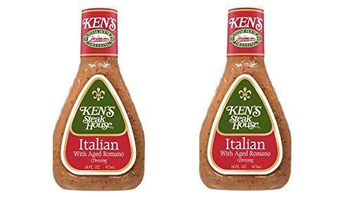 Ken's Steak House Italian Dressing with Aged Romano, 16 oz (Pack of 2)