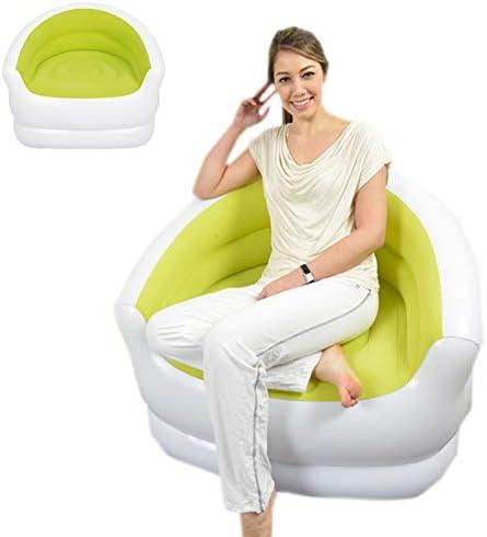 折り畳み式の膨脹可能なソファー、ハンドポンプ94 * 83 * 76 CMが付いている携帯用防水リクライニングチェア,Green
