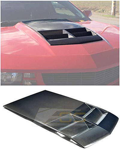 Extreme Online Store for 2010-2015 Chevrolet Camaro LT LS RS SS | EOS ZL1 Style TL1 Heat Extractor Hood Insert (Carbon Fiber) ()