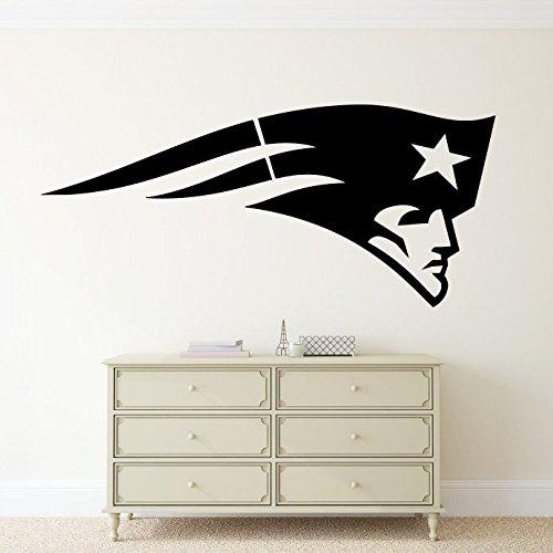 "New England Patriots Vinyl Decal NFL Emblem Sticker Wall Logo Sport Home Interior Removable Decor (18""high X 40""wide)"