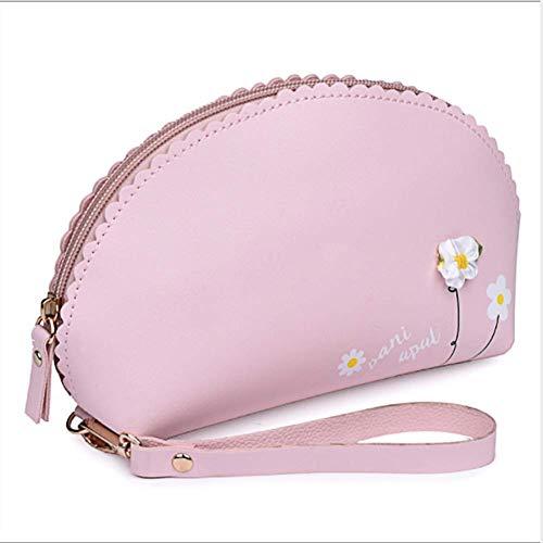 Eudola Lavage pour Sac Fleur Mini Accessoires Unie Monnaie de Femme Maquillage de Rose de Mode de Porte Rose Couleur Filles Pochette Femmes Mini Sac XHrnwPH6