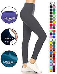High Waisted Leggings - Buttery Soft Yoga Waisted - 40+...